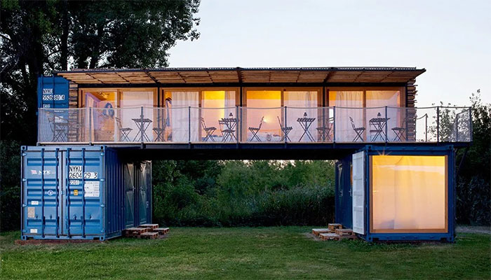 modifikasi kontainer hotel cantik