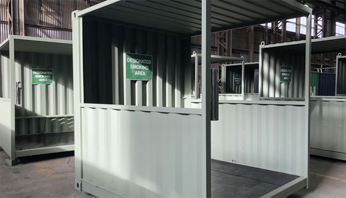 Smoking Shelter dari Container Bekas untuk Perusahaan, Mengapa Tidak?