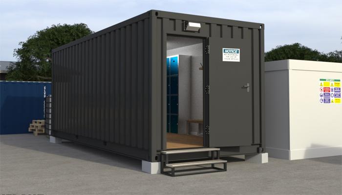ruang ganti dari container bekas