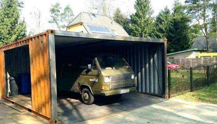 modifikasi container untuk garasi